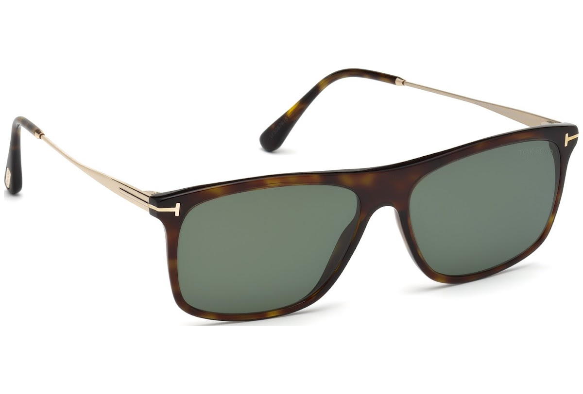 76c17c4ed57 Polarized Sunglasses Tom Ford Max-02 FT0588 C57 52R (dark havana   green  polarized)