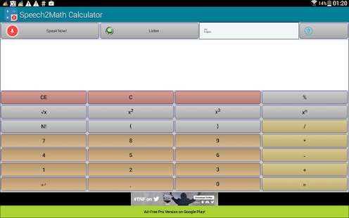 Speech2Math Calculator- screenshot thumbnail