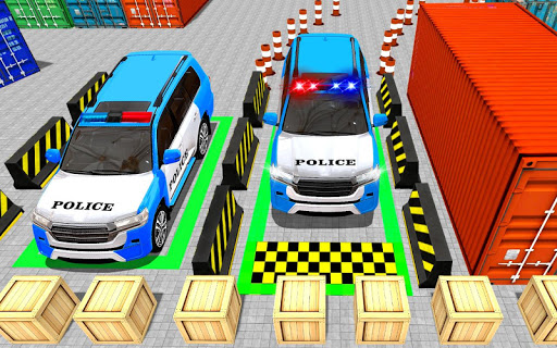 Police Jeep Spooky Stunt Parking 3D apkpoly screenshots 5