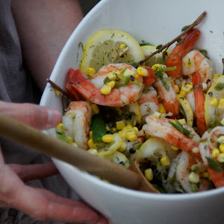 Low Country Soused Shrimp with Sweet Corn