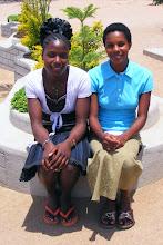 Photo: Eva and Rehema now working at Isamilo School, Mwanza