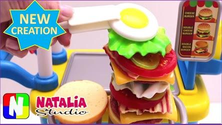 Kitchen Set Cooking Food Toys Video Natalia Studio Development