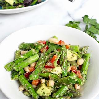Asparagus White Bean Salad with Dijon Dressing.