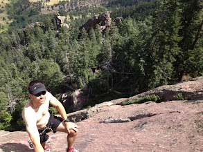 Photo: Dan Mottinger on the East Face North Side of the Fifth Flatiron