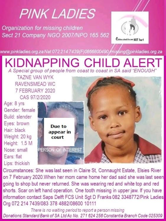 Eight-year-old Tazne van Wyk's body found after cops interview suspect - SowetanLIVE