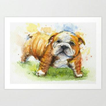 Fine art print Bulldog