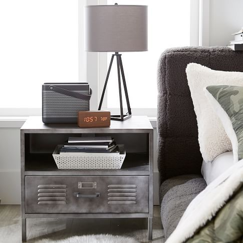 Industrial Style With A Locker Nightstand