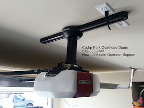 Photo: LiftMaster Operator Support Bracket. For those looking for a very clean installation of thier Trolley Mount operator.