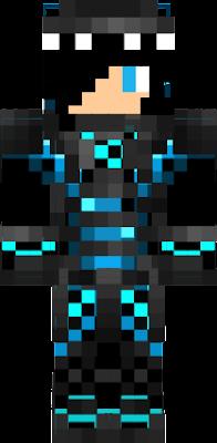 bllak and blue