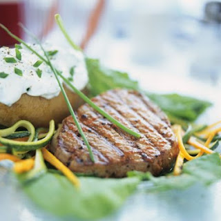 Grilled Fillet with Soft Cheese Potatoes