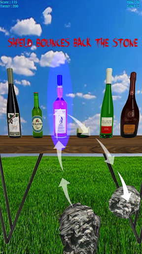 Bottle Shoot 3D - Bottle Break with Stone Shooting