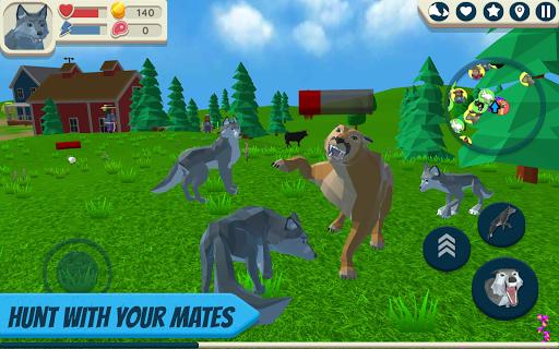 Télécharger gratuit Wolf Simulator: Wild Animals 3D APK MOD 1