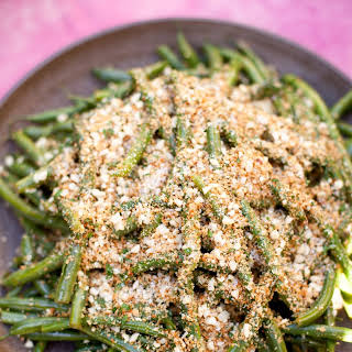 Lemony Green Beans With Almond Breadcrumbs.