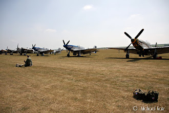 Photo: P-51 Mustang + Spitfire