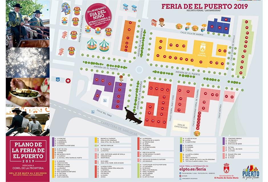 Mapa Feria Sevilla 2019.Mapa El Plano De La Feria De El Puerto Con Todas Las Casetas