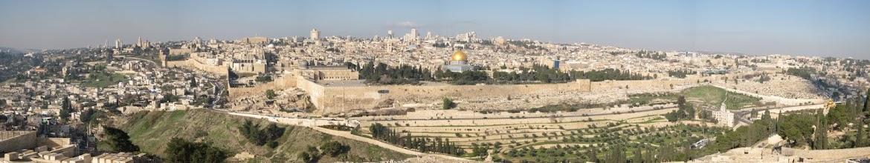 Photo: Jerusalem panorama from Mount of Olives