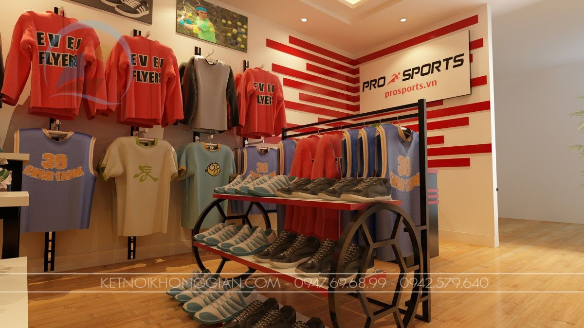 Thiết kế cửa hàng quần áo thể thao 1