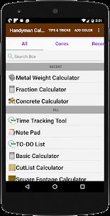Handyman Calculator 2.4.6 APK with Mod + Data 1
