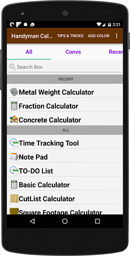 Handyman Calculator- screenshot