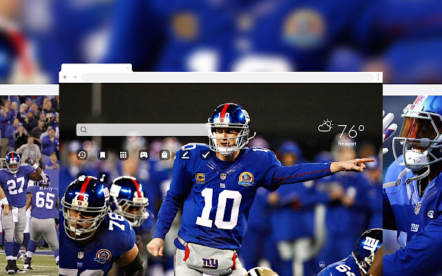 NY Giants NFL HD Wallpaper New Tab Theme