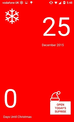 android Christmas Calendar 2015 Screenshot 1