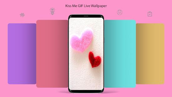 Kiss Me GIF Live Wallpaper - náhled