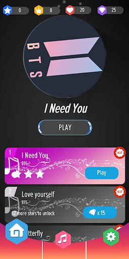 BTS Tiles : Piano Tiles DJ 0.5 screenshots 1