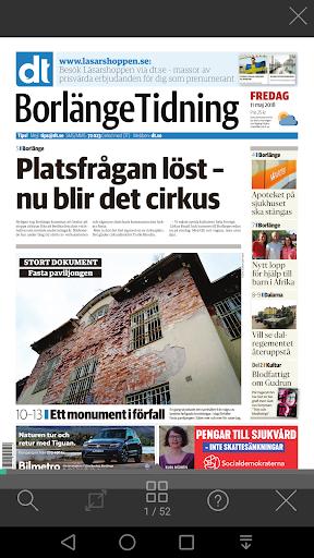 Borlu00e4nge Tidning e-tidning  screenshots 3
