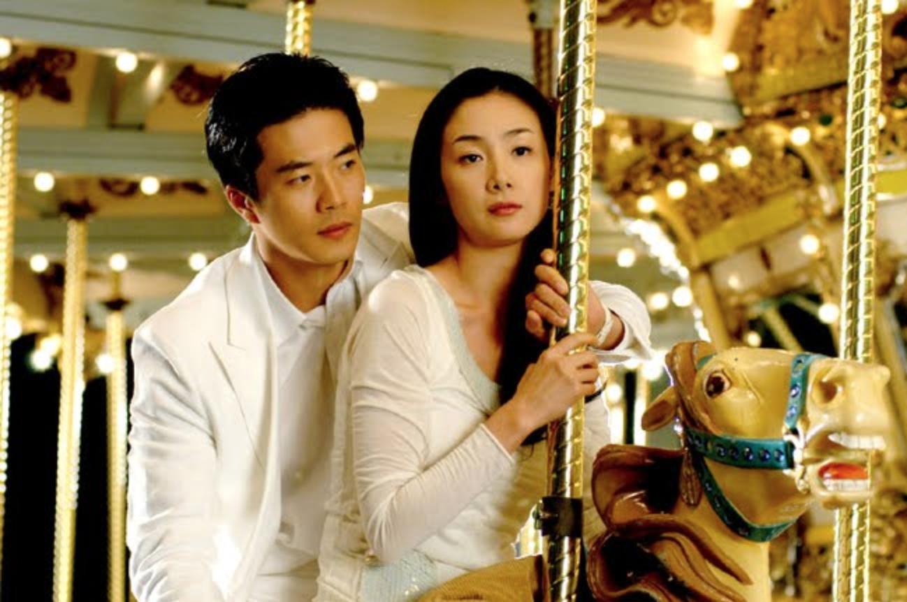Salah satu adegan drama Stairway to Heaven yang berada di Lotte World
