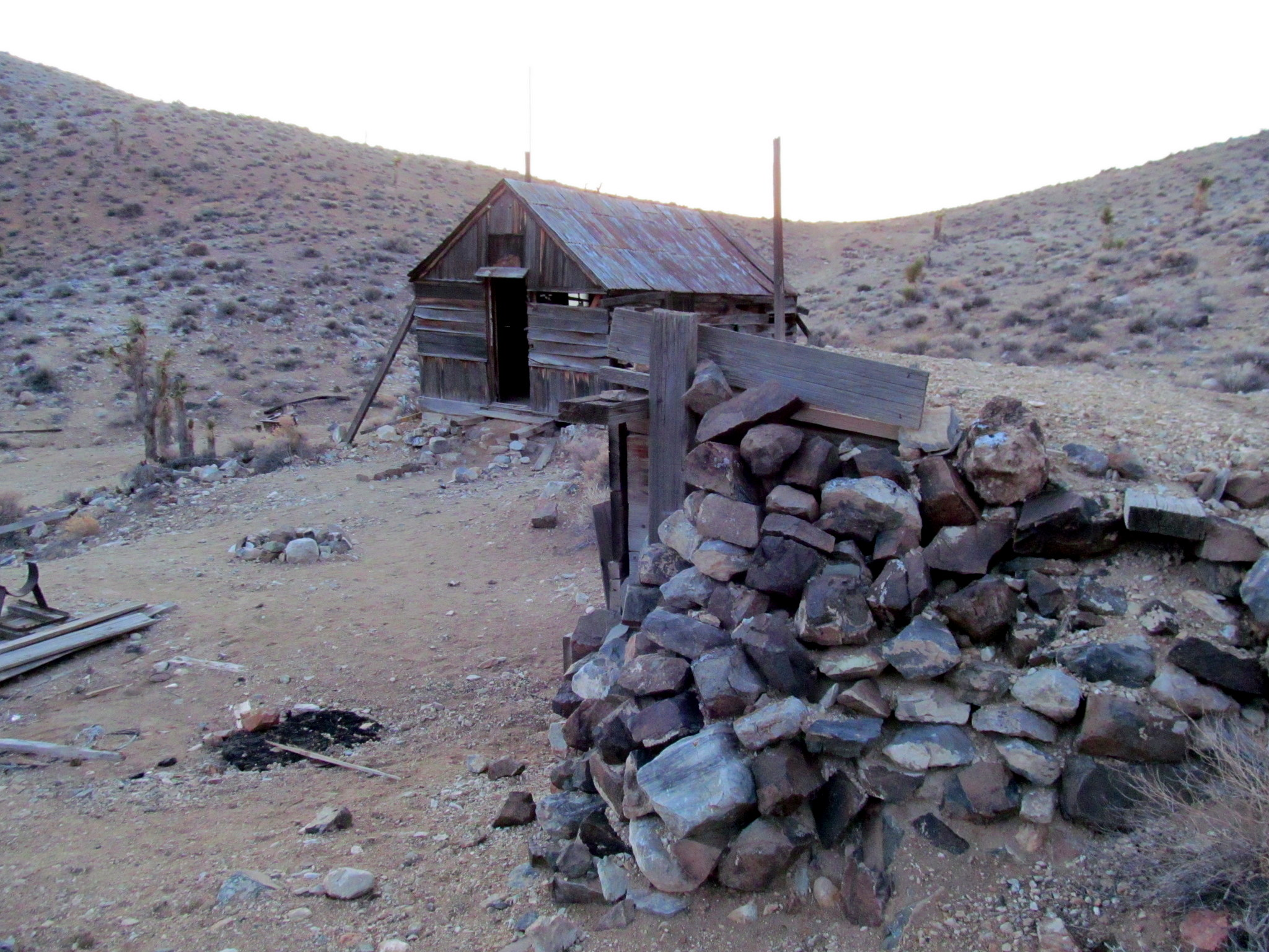 Photo: Buildings at the Lost Burro Mine