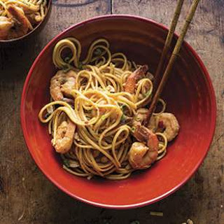 Dan Dan Noodles with Shrimp