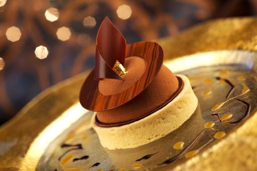 Chocolate and caramel tart, part of Chocolate Journeys on Princess Cruises.