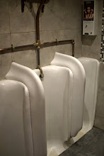 Photo: Dan was impressed with these classic old porcelain urinals