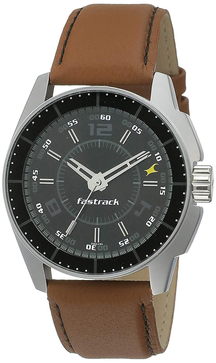 Fastrack NK3089SL05 Black Magic Analog Fastrack Watch For Men
