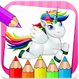 Unicorn Little Pony Coloring Book icon