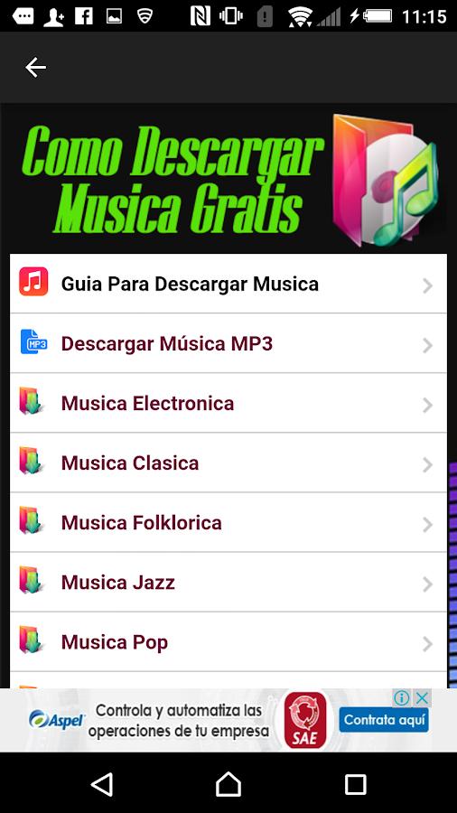 Descargar Musica Gratis Guia - Android Apps on Google Play