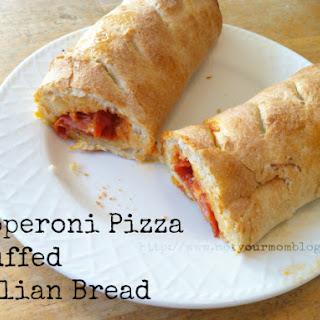 Pepperoni Pizza Stuffed Italian Bread -