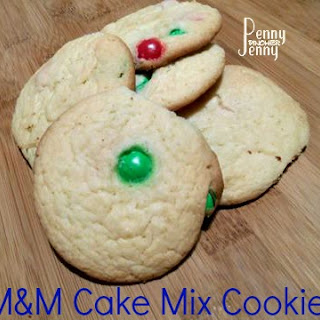 M&M Cake Mix Cookies
