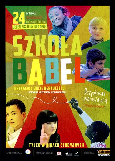 Przód ulotki filmu 'Szkoła Babel'