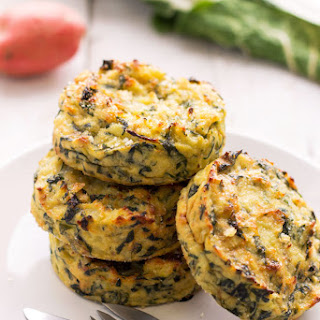 Swiss Chard Potato Cakes.