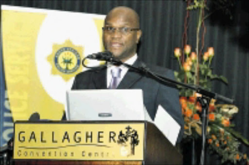NEW ORDERS: Minister of Police Nathi Mthethwa at the launch of the Hawks, which replace the Scorpions as the top crime-fighting unit in South Africa. Pic: Bafana Mahlangu. 06/07/2009. © Sowetan.