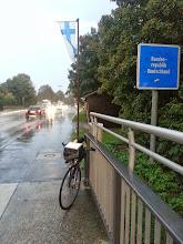 Photo: Entrée en Allemagne, sous très forte pluie!