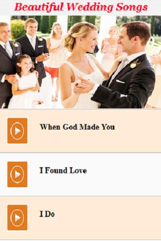 Beautiful Wedding Songs Screenshot