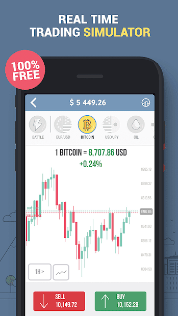 Trading Game - Forex & Stock Market Investing Android App Screenshot