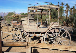 Photo: The Borax Museum at the Ranch at Furnace Creek provides the history of the property and key figures involved in the history of Death Valley and the resort. Behind the museum building is a assembly of mining and transportation equiment.