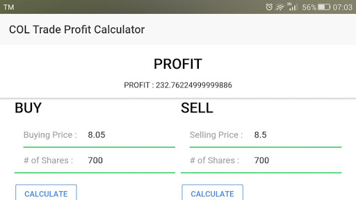 COL Financial Profit Calculator 0.0.2 screenshots 1