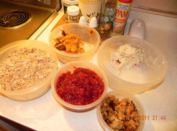 Gather all your leftovers to see what you have to work with.  Spray your...