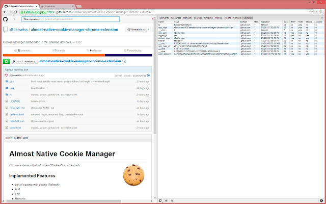 Almost Native Cookies Manager