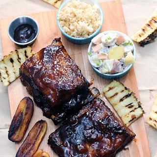 Hawaiian Barbecue Ribs + Apple Potato Salad + Dirty Rice.
