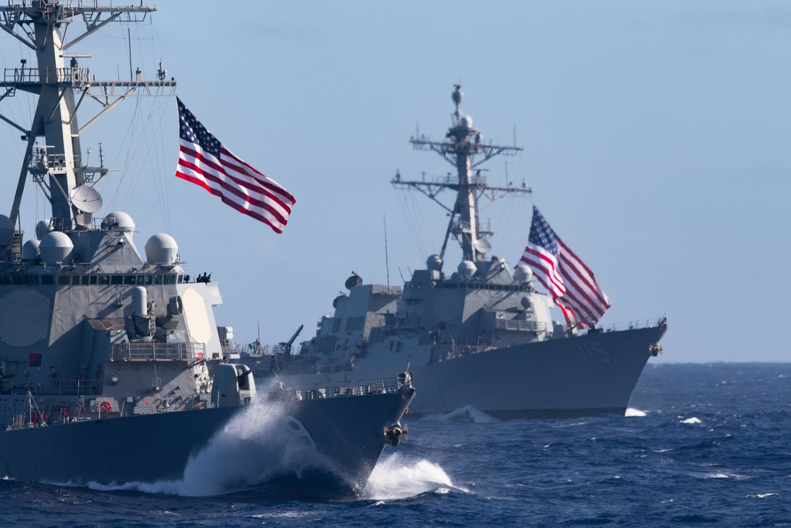 Theodore Roosevelt Carrier Strike Group transits the Pacific Ocean